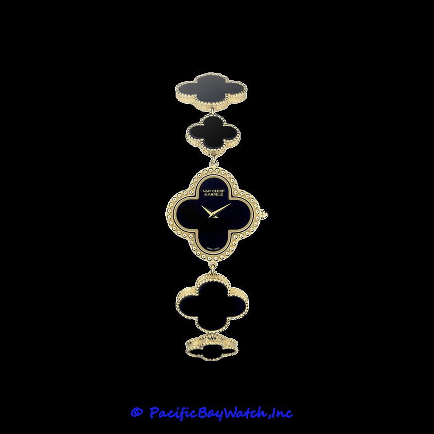 Van Cleef Arpels Vintage Alhambra Vcarn01600 With Images Onyx Bracelet Jewelry Jewelry Design