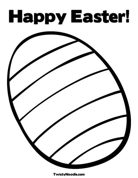 Striped Easter Egg Coloring Page Easter Colouring Easter Coloring Pages Easter Worksheets