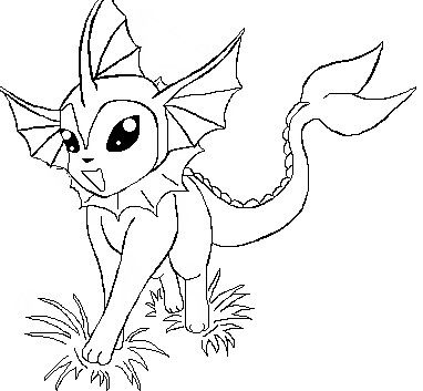 Pokemon Vaporeon Coloring Pages VAPOREON colouring pages