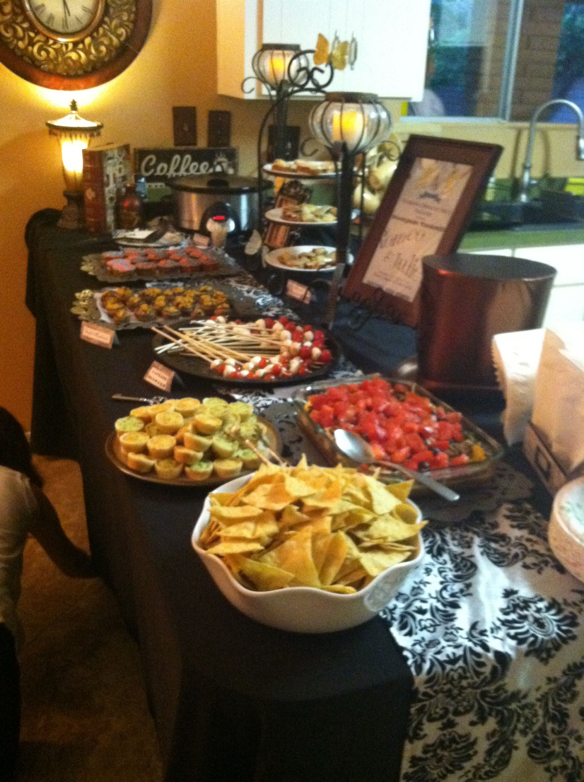 Steampunk Party Food Buffet