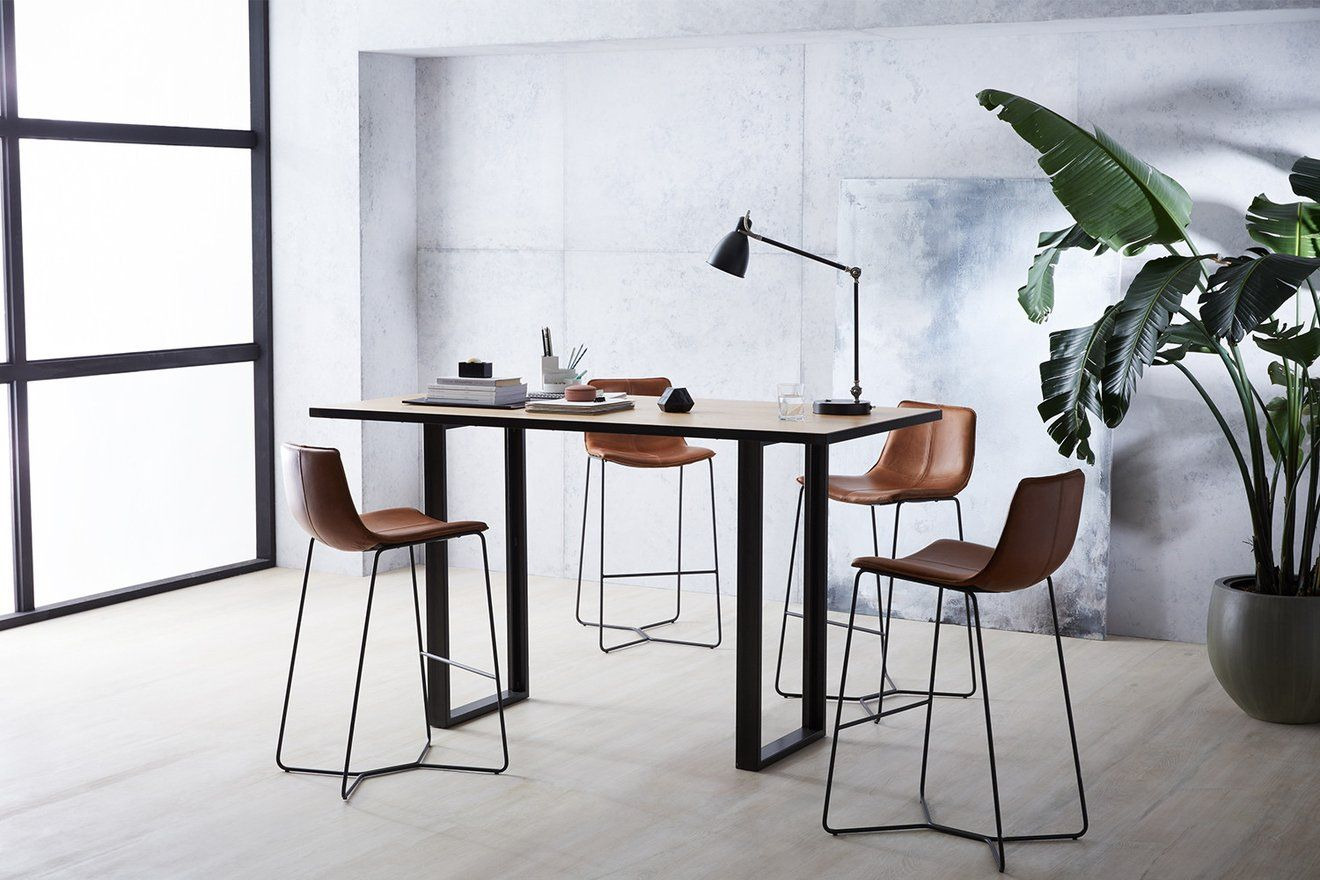 West Elm Workspace Industrial Standing Height Meeting Table West - Tall meeting table