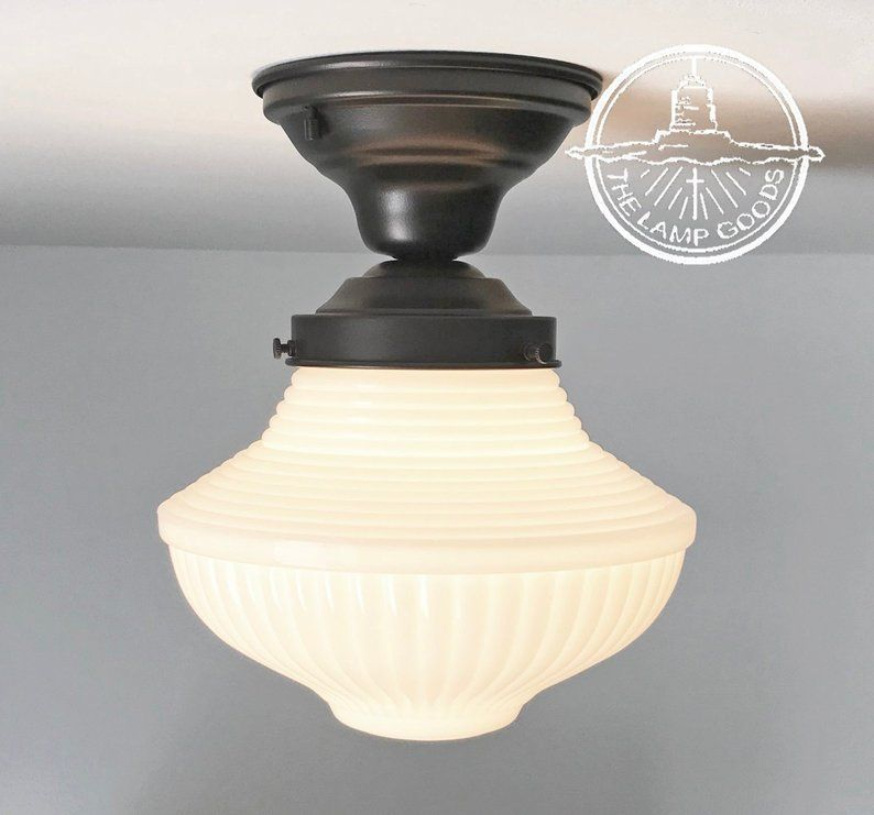 Milk Glass Traditional Light Fixture With Semi Flush Mount Etsy Ceiling Lights Traditional Light Fixtures Glass Ceiling Lights