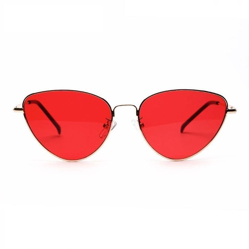 562b625de1ddf Vintage Cat Eye Metal Frame Sunglasses Women Retro Red Lenses Eyewear New  Light  MAYTEN  Fashioncateye