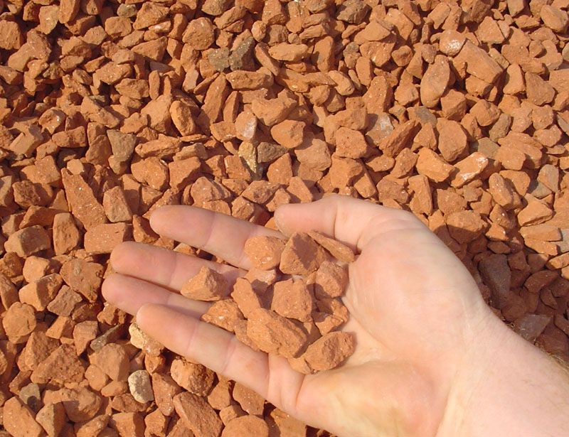 3 4 Crushed Red Brick Sold In Bulk And In Bagged Quantities