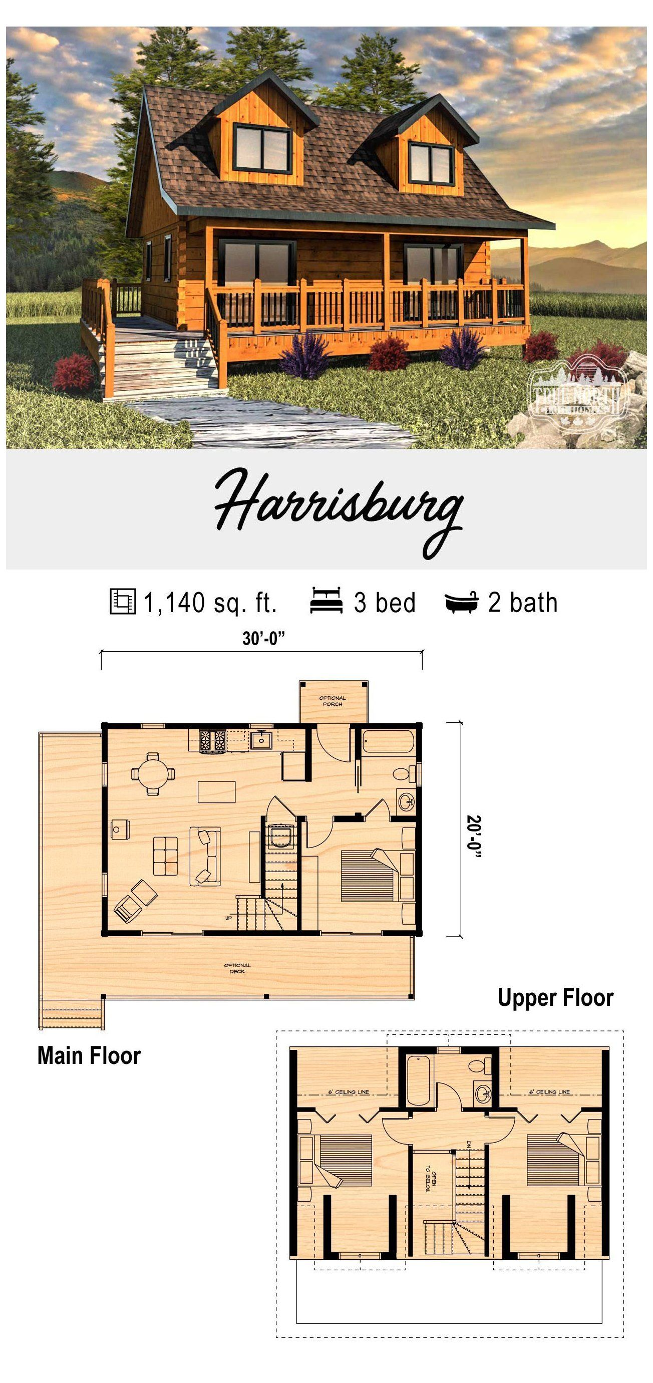 Harrisburg Cabin Plans With Loft Cabinplanswithloft The Harrisburg Is A Perfect Weekend Getaway Small Cabin Plans Cabin House Plans Cabin Plans With Loft