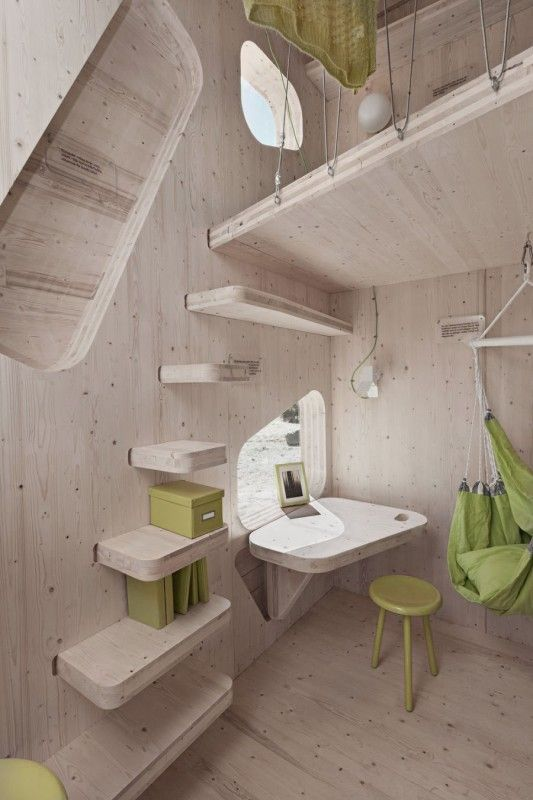 Architecture Sleek Wooden Stairs To The Top Level Design Ideas Tiny Cabin Duplex House