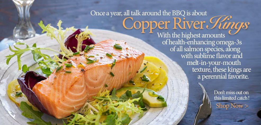 Copper River King Salmon 6 Oz Portions Skin On Boneless With