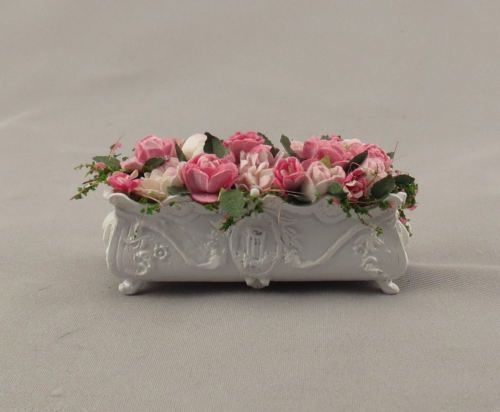 GORGEOUS Dollhouse Miniature Long Window Box Planter Filled with Flowers #ZA500