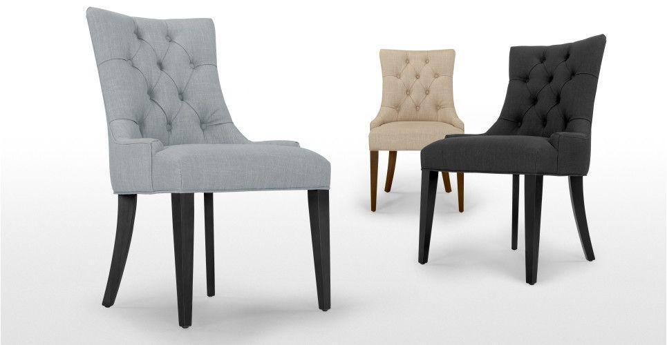 Flynn Scoop Back Chair Persian Grey Furniture Dining Chairs Dining Chairs Eclectic Dining Room