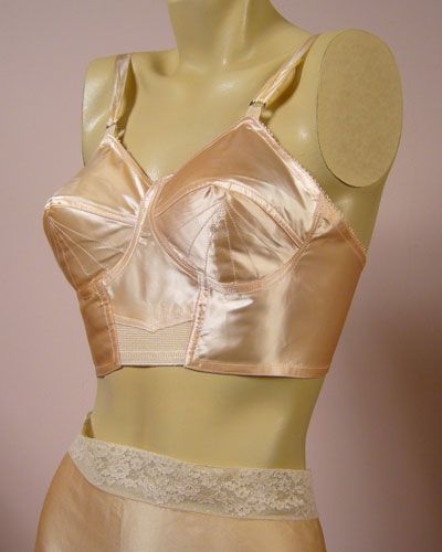 caabf851e Vintage 1940s peach satin bra. Too bad it s sold (for £45.00 ...