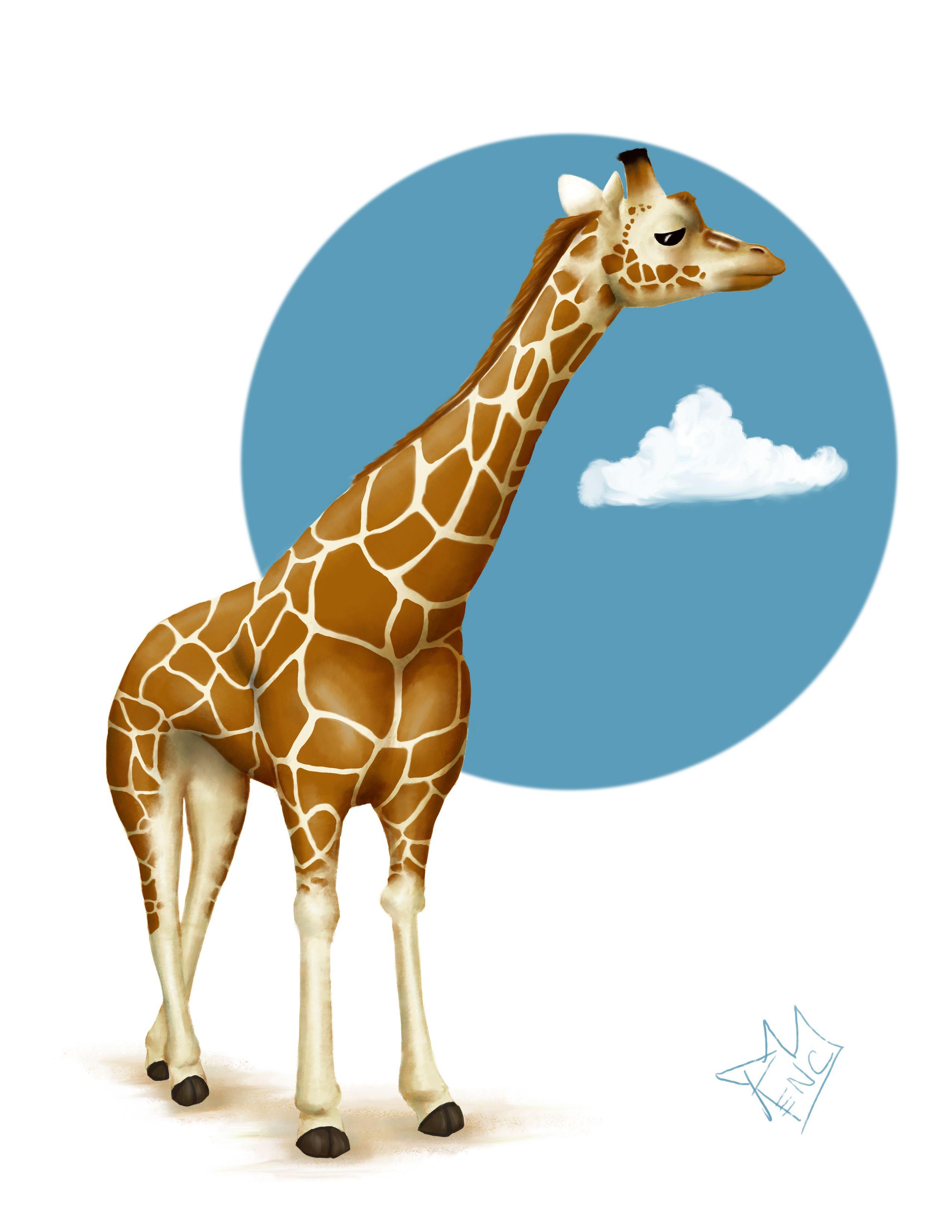 жираф картинка с надписью поняли фотограф