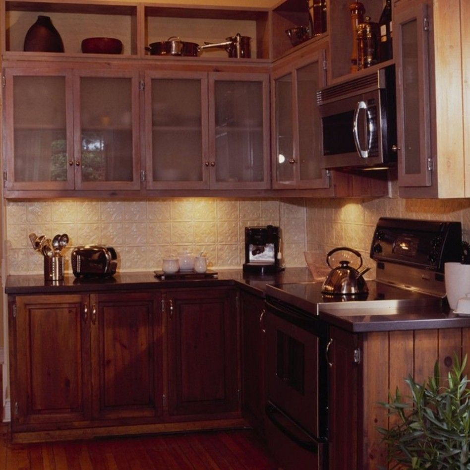 Kitchen Astonishing L Shape Kitchen Design Ideas With Cream Tin Kitchen Backsplash Along With Dark B Tin Kitchen L Shaped Kitchen Designs Kitchen Design Plans