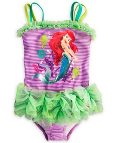 Disney  Big Girls  2013 Ariel Deluxe Swimsuit 78m Multi * Click image to review more details.