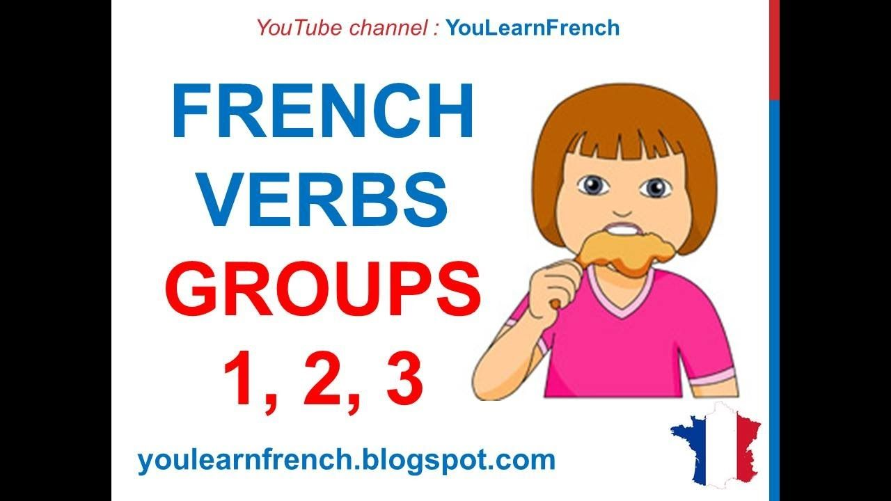 French Lesson 41 French Verbs Groups 1 2 3 Verbes Du Premier Deuxième Troisième Groupe Youtube French Verbs Verbe Premiers Sons