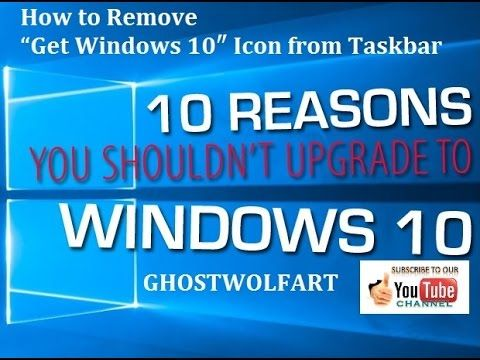 """GhostWolfArt(TM) How to Remove """"Get Windows 10″ Icon from"""