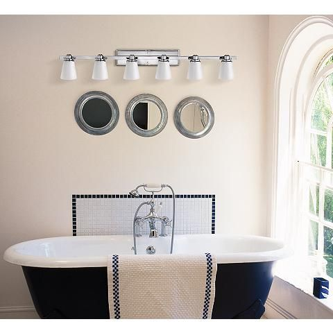 "Hinkley Avon Collection Chrome 48"" Wide Bathroom Wall ..."