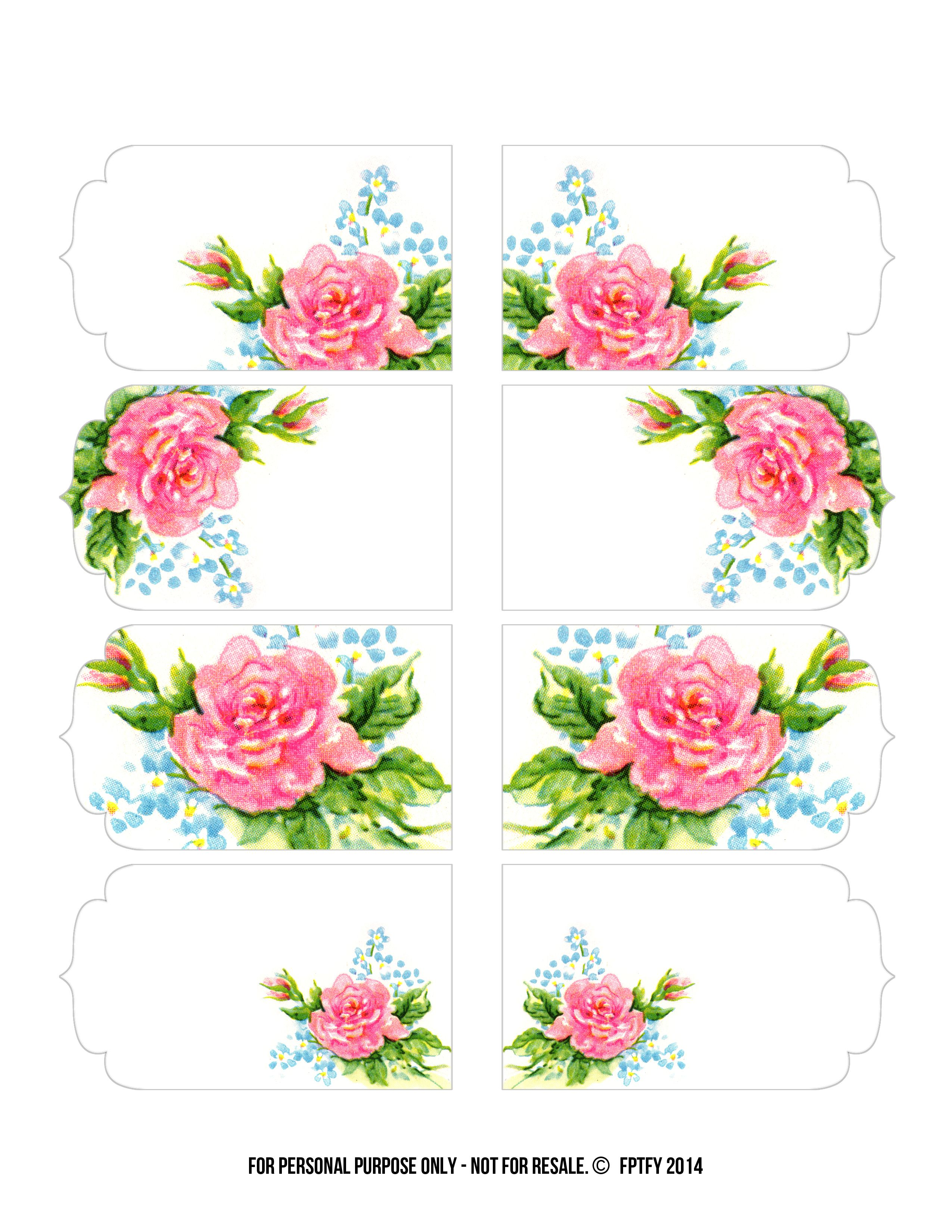 Shabby Blogs Vintage Freebie With Keren Gorgeous Rose Tags And