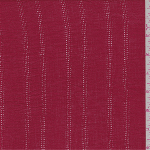 Solidcherry red. This lightweight cotton fabric has a textured surface and leno stripe.Compare to $10.00/yd