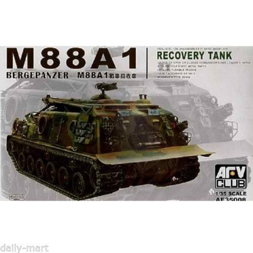 2 OF THESE KITS----AFV-Club-1-35-AF35008-M88A1-Bergepanzer-Recevory-Tank-Model-Kit