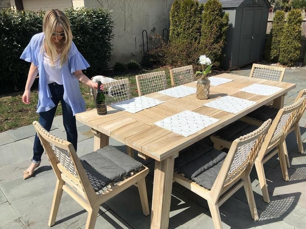 Teaka Dining Table For 8 Teak Outdoor Rustic Outdoor Furniture