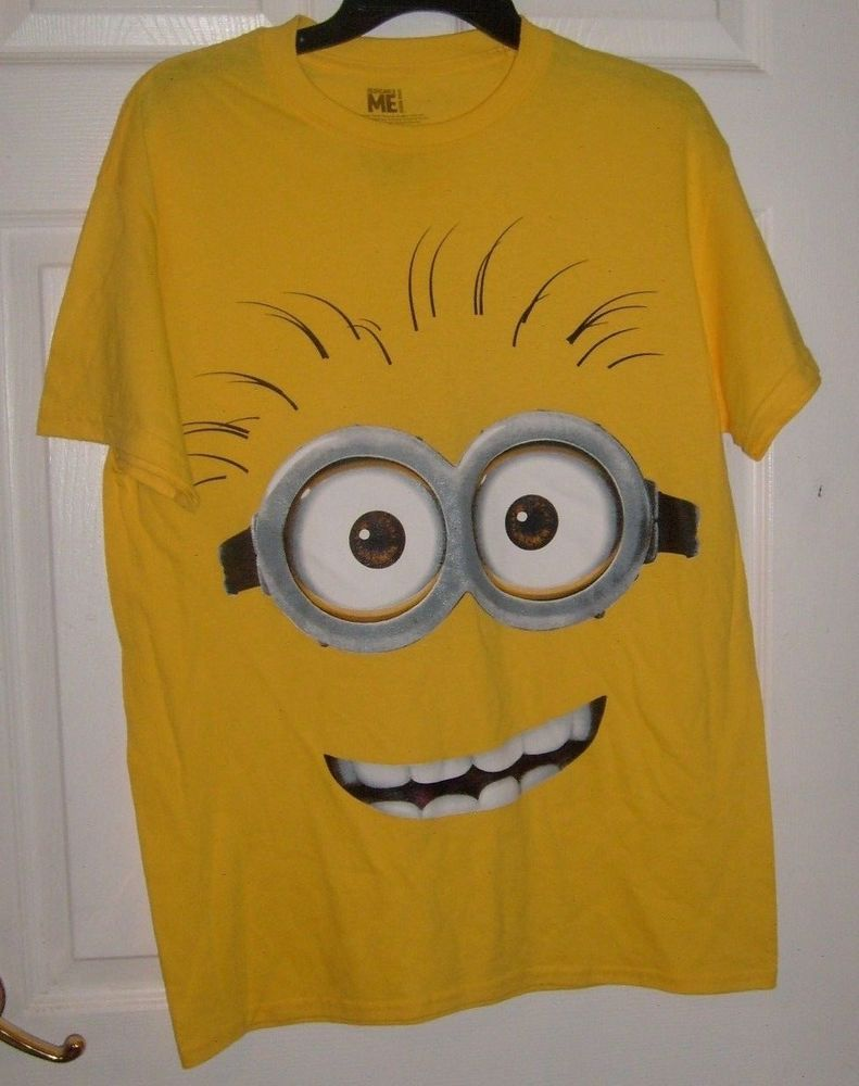 417d0ad27 DESPICABLE ME YELLOW MINION ADULT MEDIUM T SHIRT NEW #SPENCERS #GraphicTee