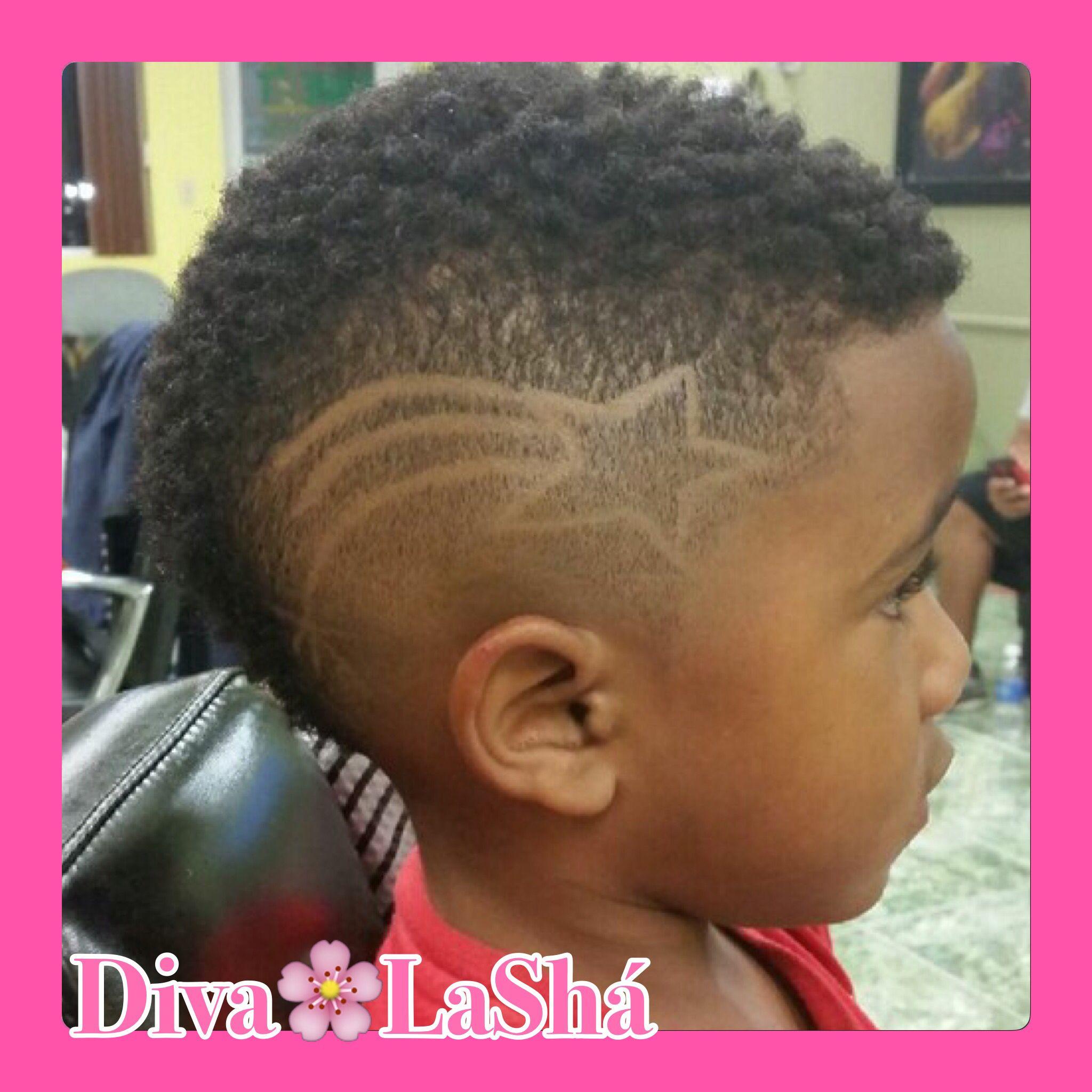 Lightning Bolt Haircut Design Boys