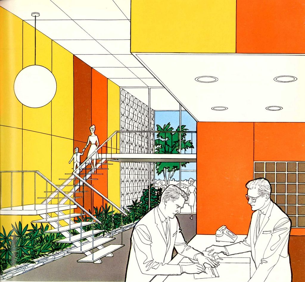 How To Copy The Mid Century Modern Design: Modernizor: Illustrations From Ads From The 50s, Also