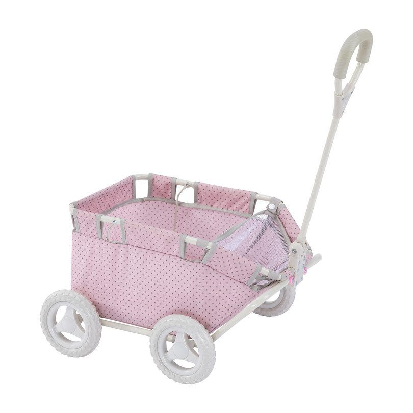 Polka Dots Princess Doll Wagon - Play Kids Dolls & Doll Accessories - Maisonette