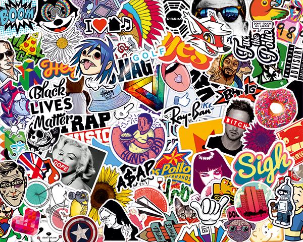 Pegatinas: Sticker Bomb para decorar tablas de surf o skate ...