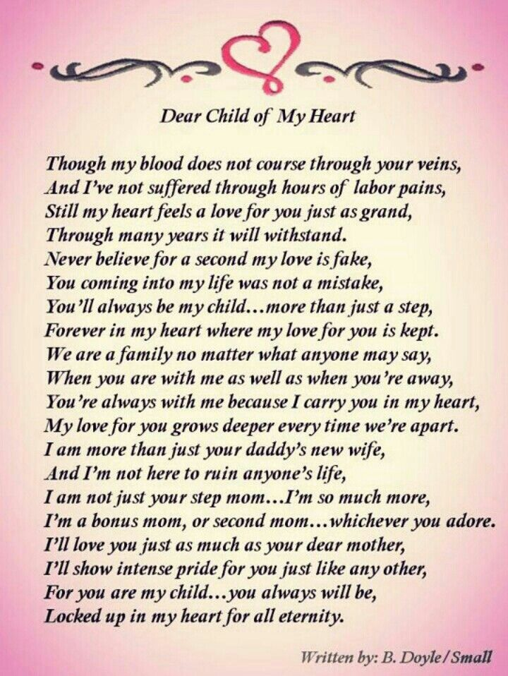 For My Bonus Children Meaningful Words In My Life Daughter