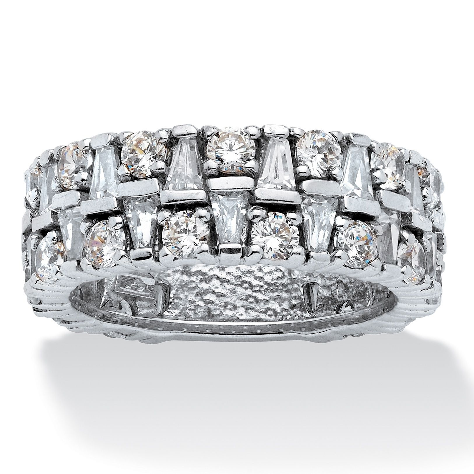 platinum sterling palmbeach over products jewelry cubic in silver detail zirconia cfm cut band eternity bands at tcw emerald
