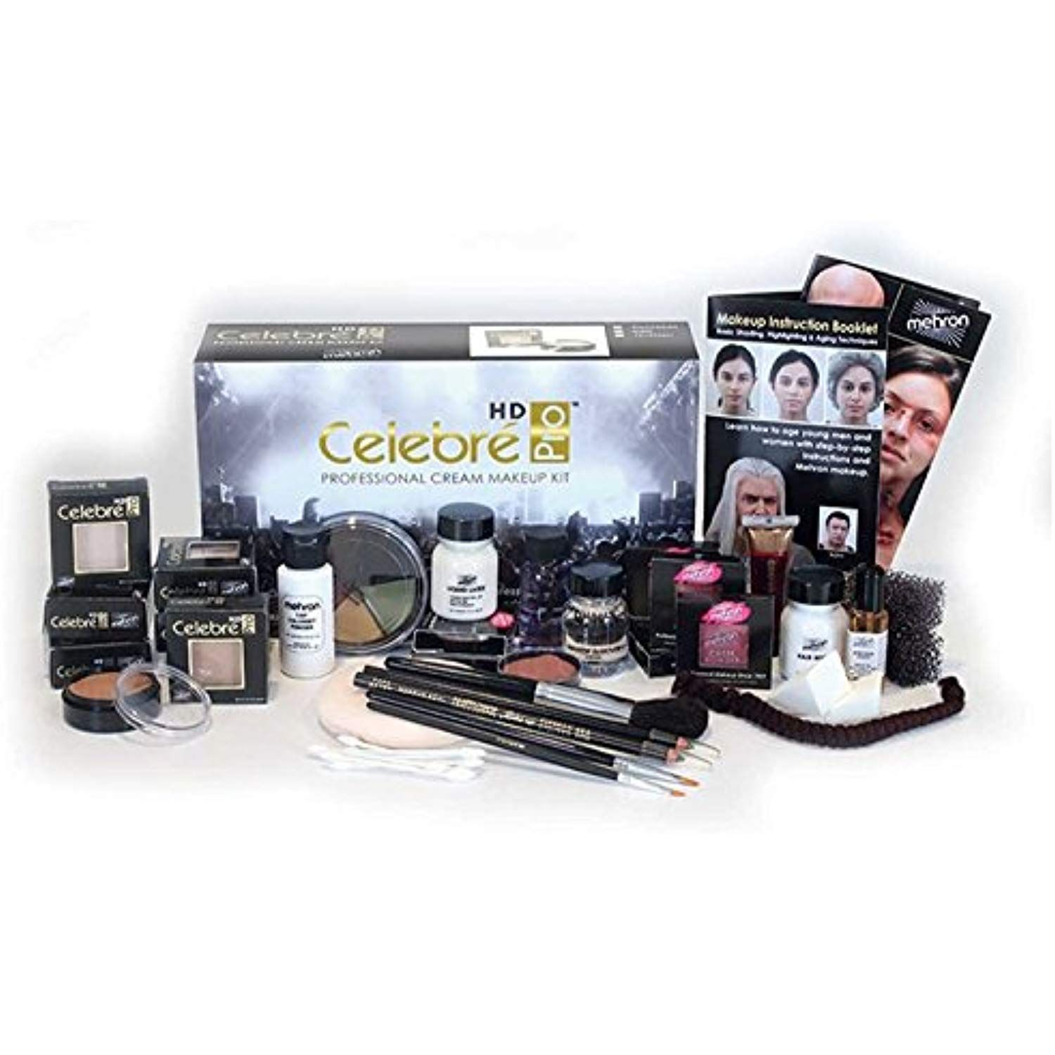 Mehron Celebré Professional HD Cream Makeup Kit Complete