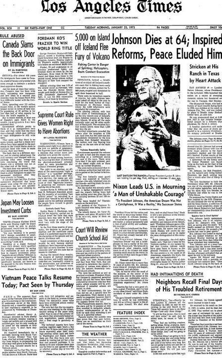 Roe Vs Wade Old Newspaper American History History