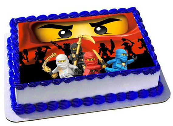 Lego Ninjago Edible Cake Topper Birthday Party Frosting Sheet Images