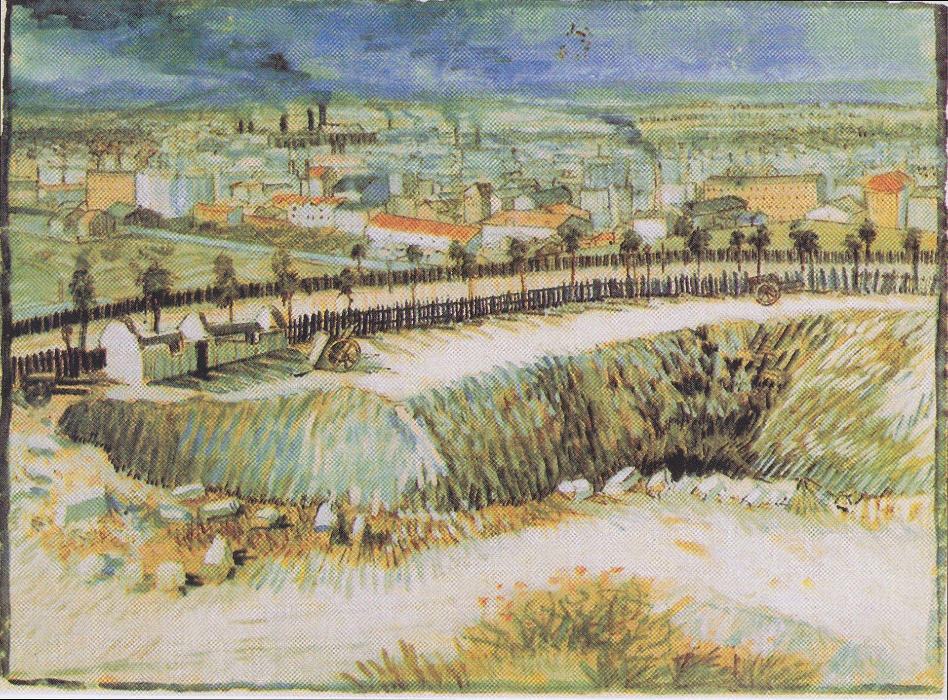 Van Gogh Am Stadtrand Von Paris Nahe Montmartre 1887 Van Gogh