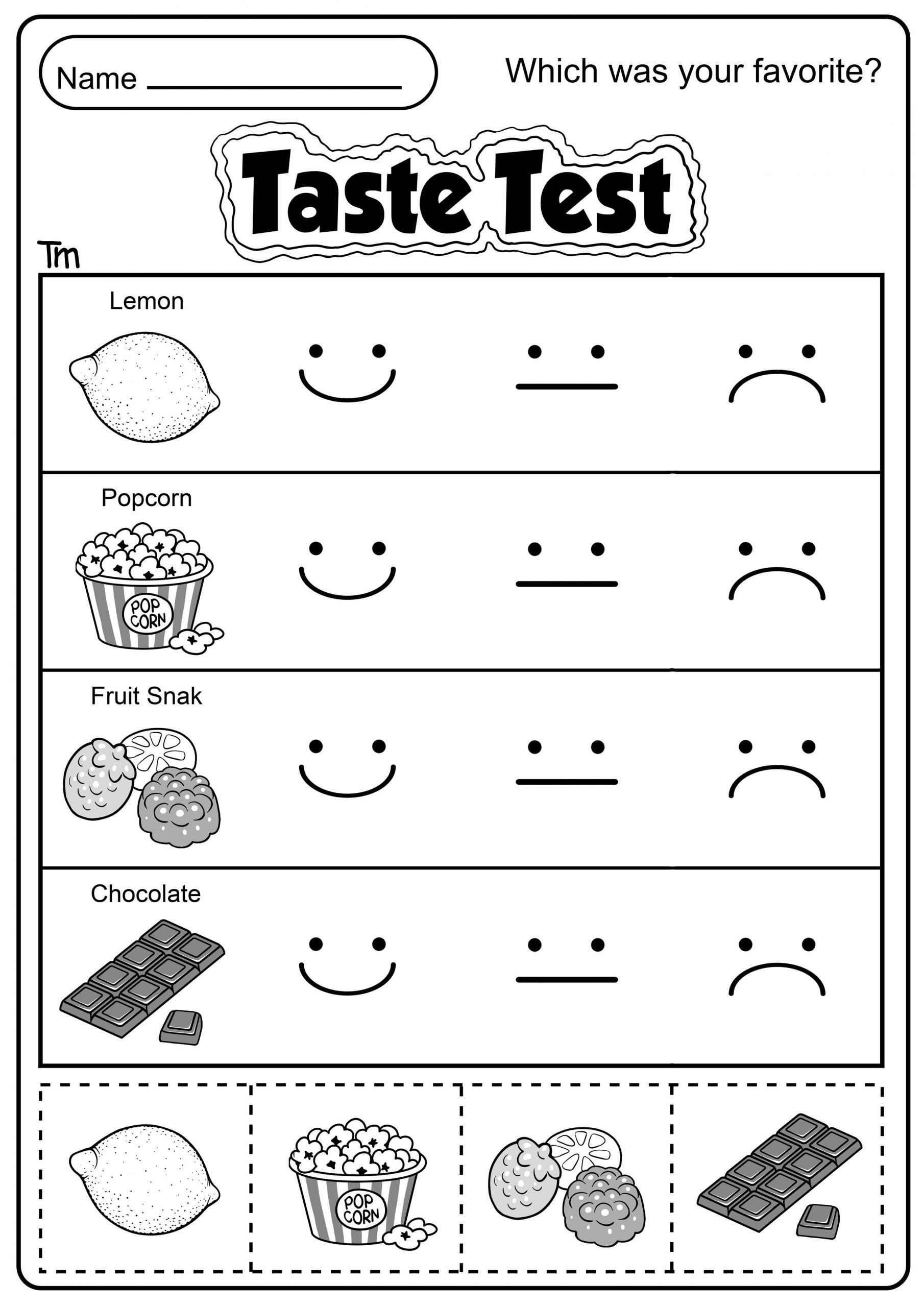 Kindergarten 5 Senses Worksheet In