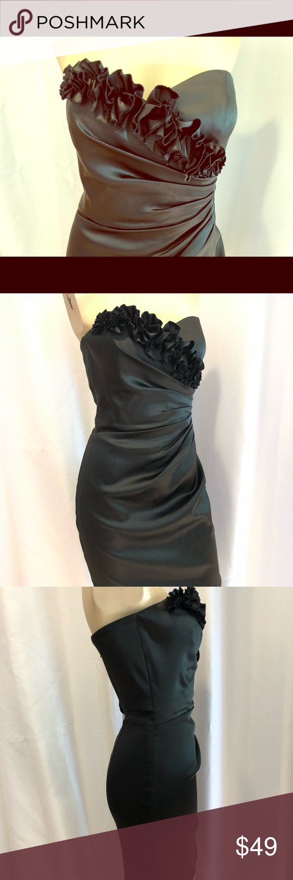 dd5329a05f3af WHBM Black Strapless Dress Size 4 Knee Length LBD This White House Black  Market Dress is in excellent condition.. worn once!!! It looks new :) White  House ...