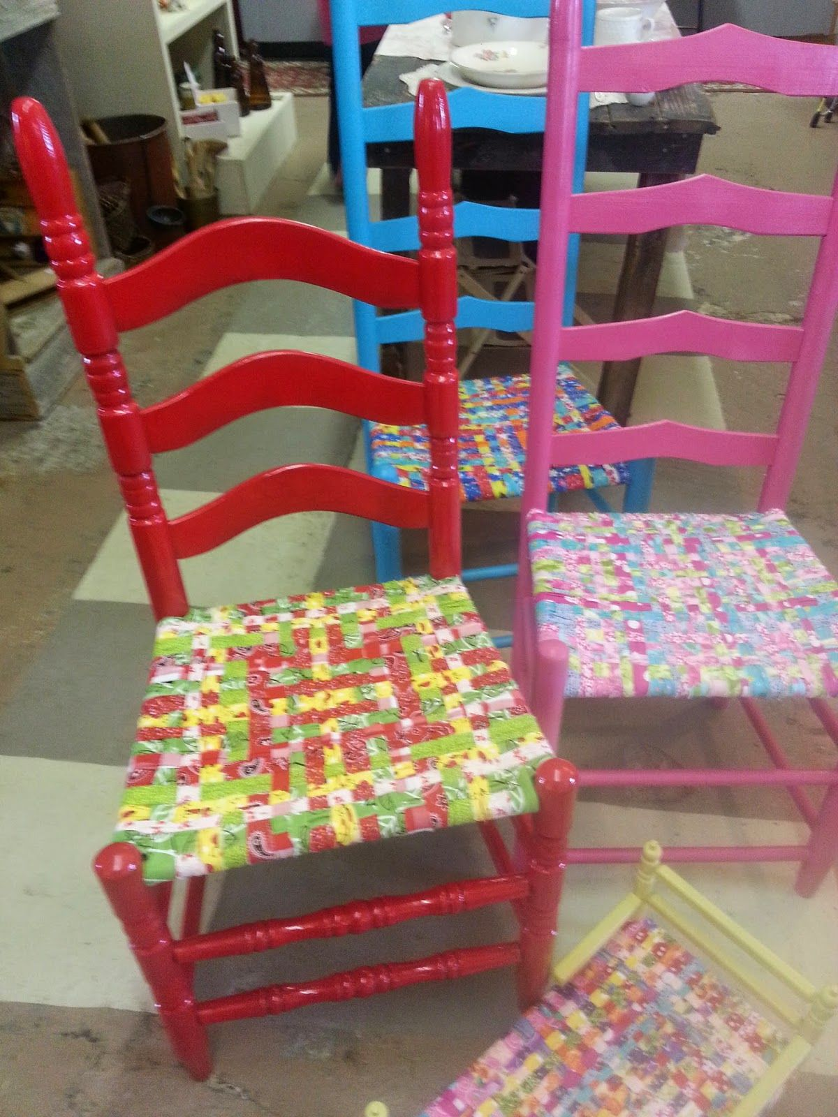 Charmant A Mcinnis Artworks: How To Weave A Fabric Chair Seat