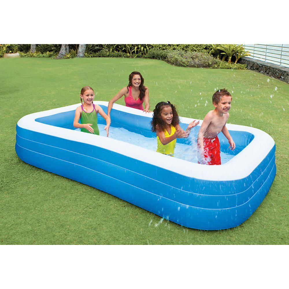 Intex Swim Center 72 In X 120 In Family Backyard Inflatable Swimming Pool 3 Pack 3 X 58484ep The Home Depot Inflatable Pool Family Inflatable Pool Portable Swimming Pools