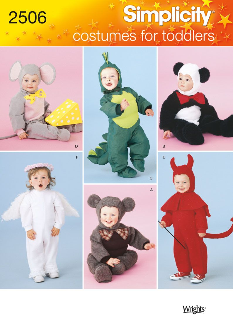 toddlers animal costume sewing pattern 2506 simplicity this dinosaur is really cute too - Childrens Halloween Costume Patterns