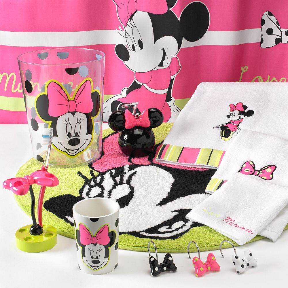 Disney Minnie Mouse Neon Bath Accessories