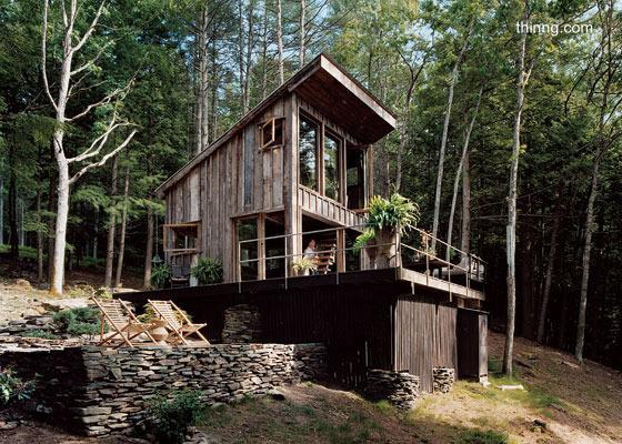 Caba as r sticas peque as jardines casas de madera for Modelos cabanas rusticas pequenas