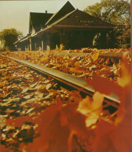 Wausau Depot In Autumn Wausau Wisconsin Circa 1980 1999 Source