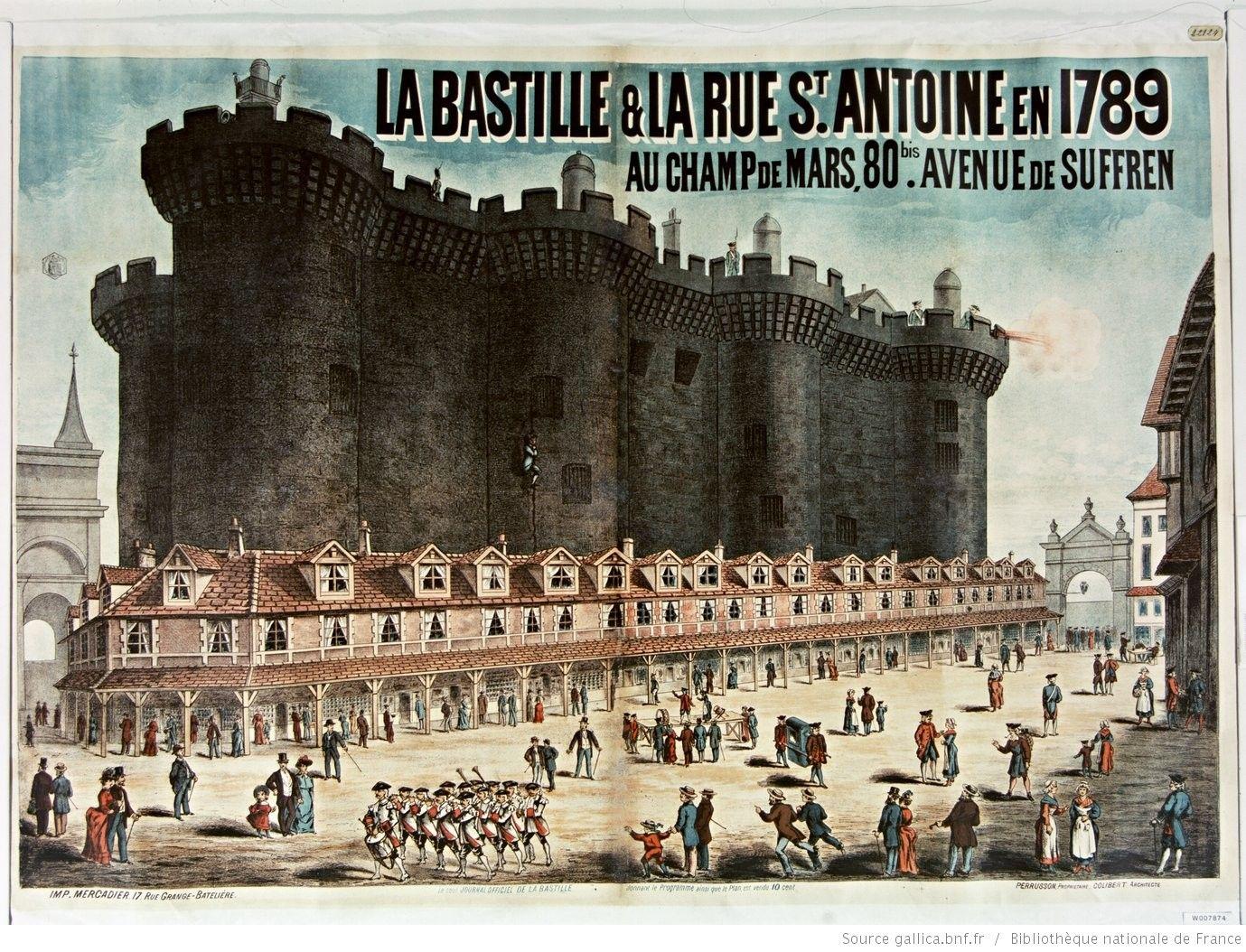 La Bastille et la rue St Antoine en 1789. Au Champ de Mars 80 bis avenue de Suffren, Perrusson, propriétaire, Colibert, architecte : [affiche] / [non identifié]