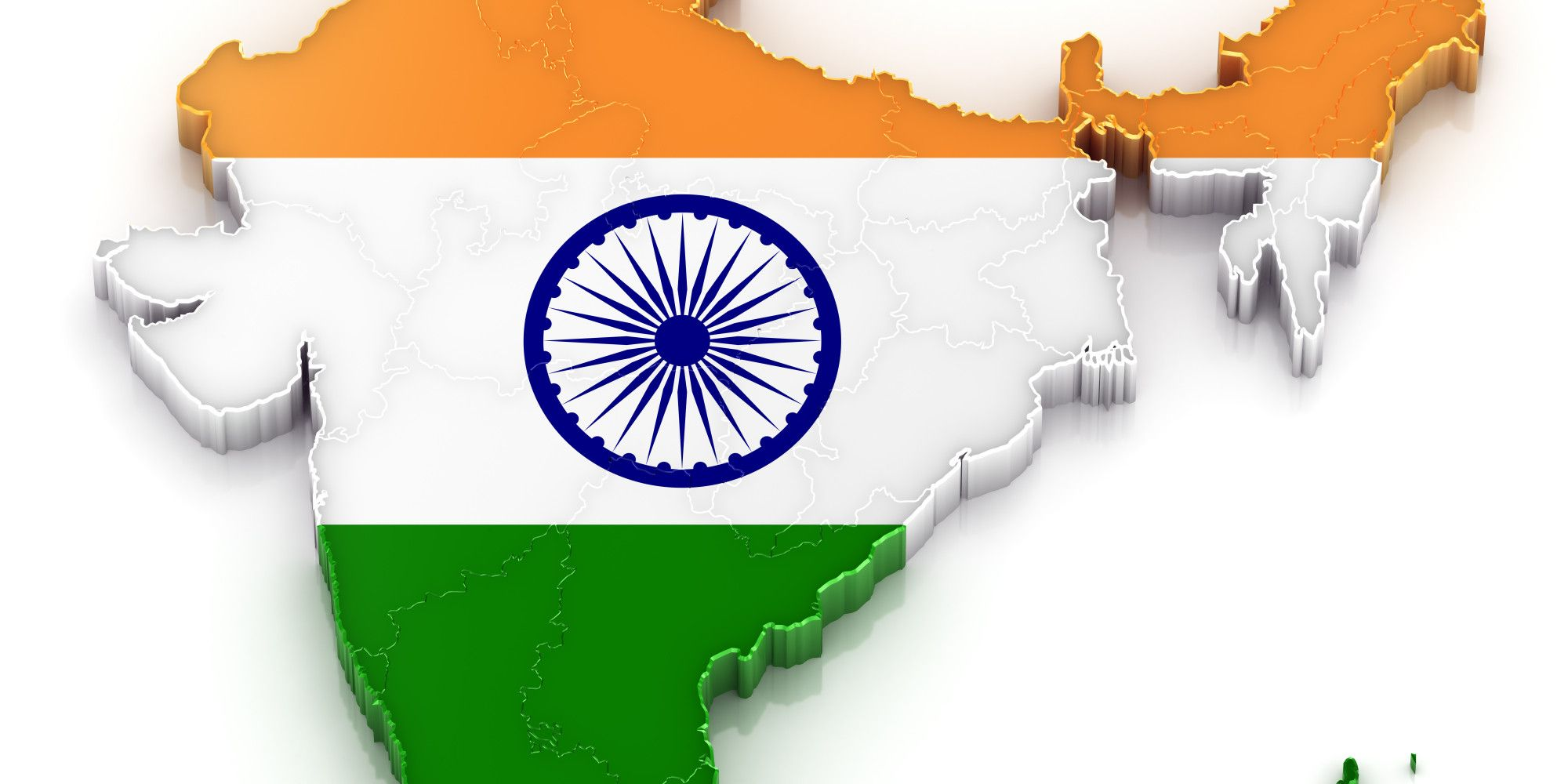 India Flag Colors: Three Colors As Flags Of India With
