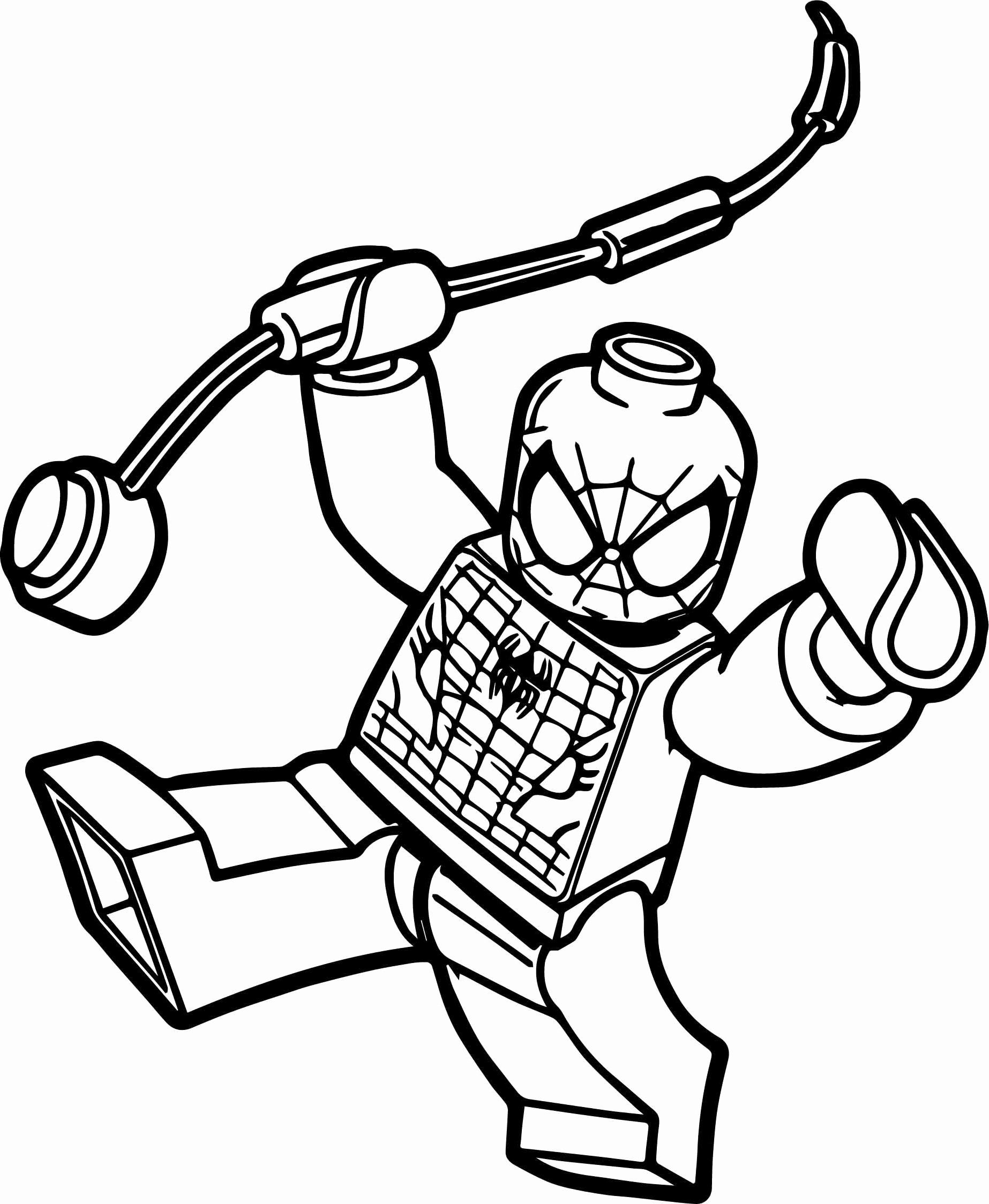 Lego Spiderman Coloring Page Awesome Lego Spiderman Coloring Pages