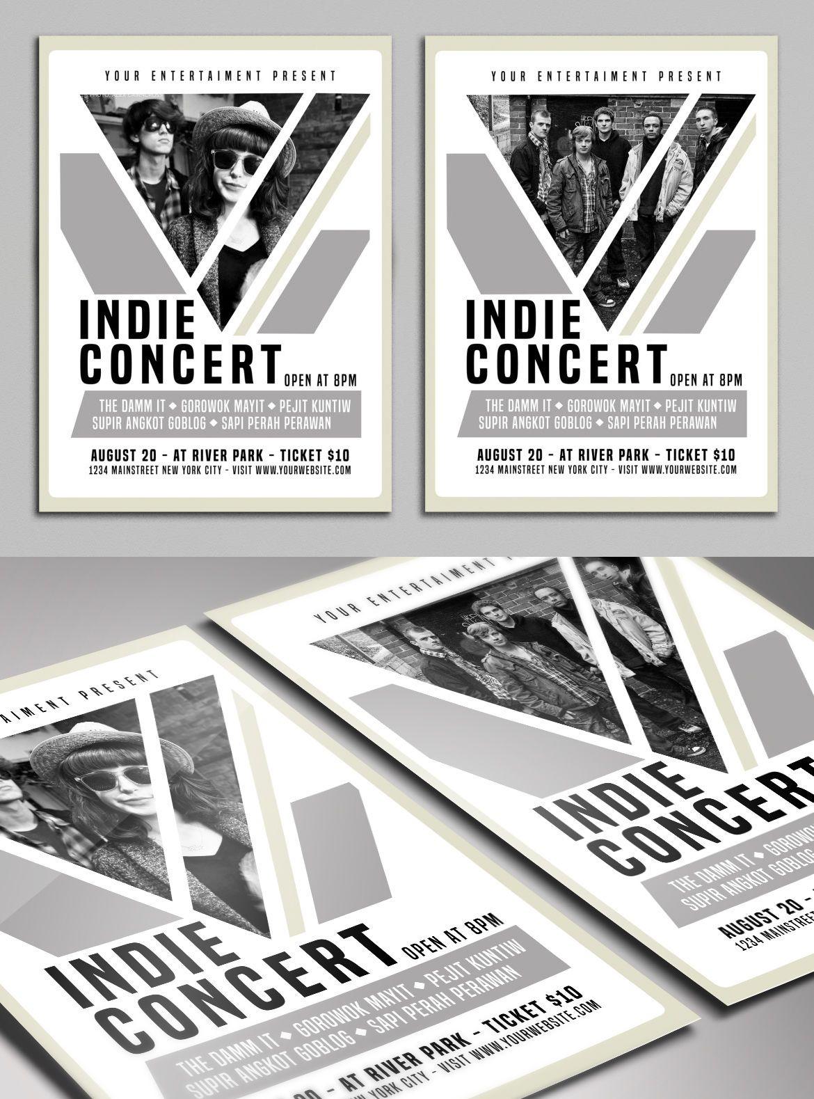Indie Concert Flyer Template PSD | nice ad | Pinterest | Concert ...