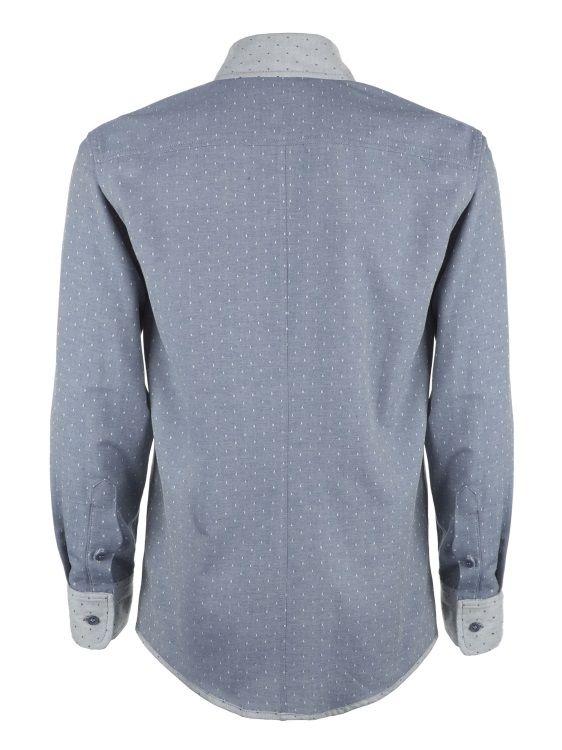 Cock & Bull Menswear // Slim Fit Grey Organic Cotton Chambray Shirt // Tissu Chambray à pois Denim, Amandine Cha -- Les Trouvailles d'Amandine