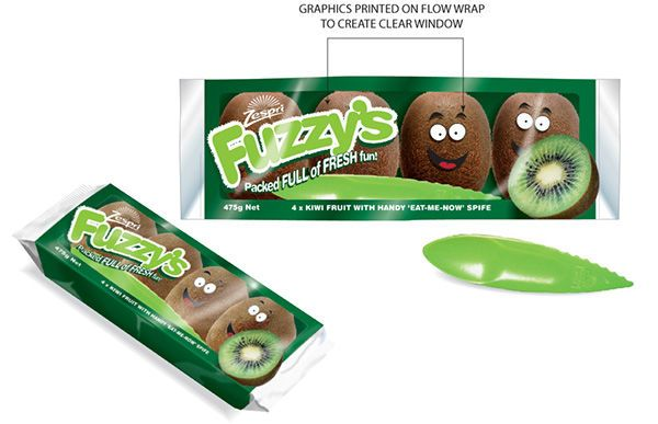 These Kiwi Snack Packs Include Personified and Animated Graphics #branding trendhunter.com