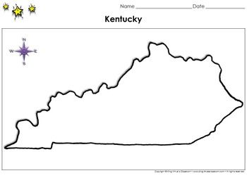 Kentucky Map - Blank - Full Page - Virginia's Bordering State - King on kentucky map outline, kentucky state regions blank, kentucky political map, kentucky state flag coloring page, kentucky counties blank, kentucky state history timeline, kentucky state silhouette, kentucky state clip art, kentucky state outline to print, kentucky shale, kentucky state black and white, kentucky state template,